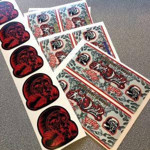 vinyl decals custom printed