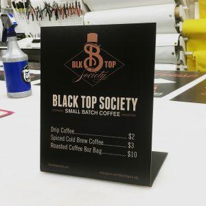 custom table top signs