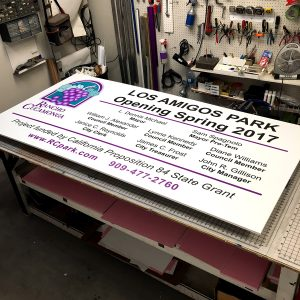 printed outdoor construction signs