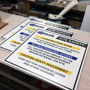 signs for job sites